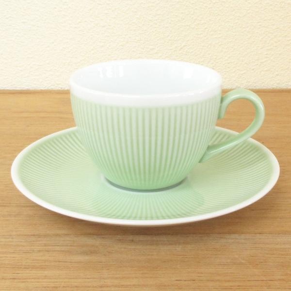コーヒーカップソーサー ミントグリーン シフォン