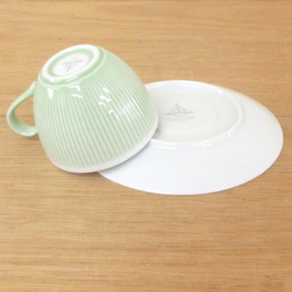コーヒーカップ ソーサー ミントグリーン シフォン