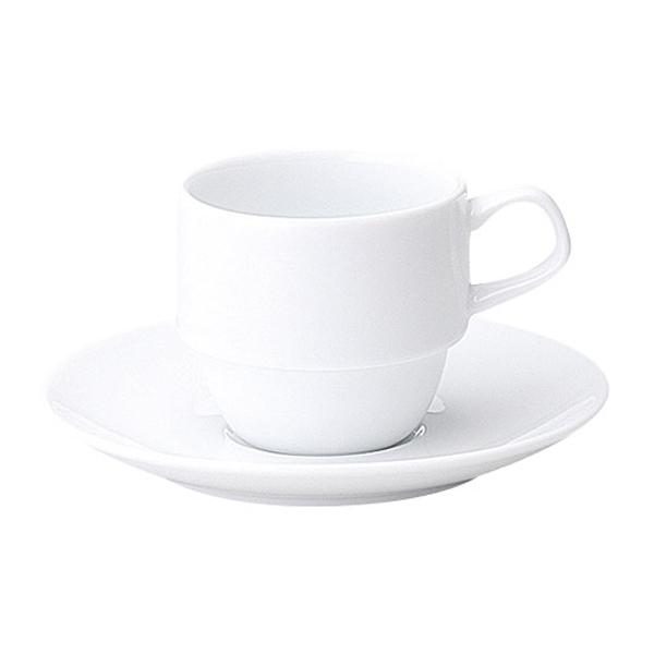 コーヒーカップソーサー  白 スタック インパクト