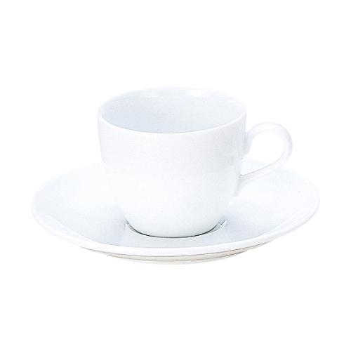 >コーヒーカップソーサー  白 インパクト