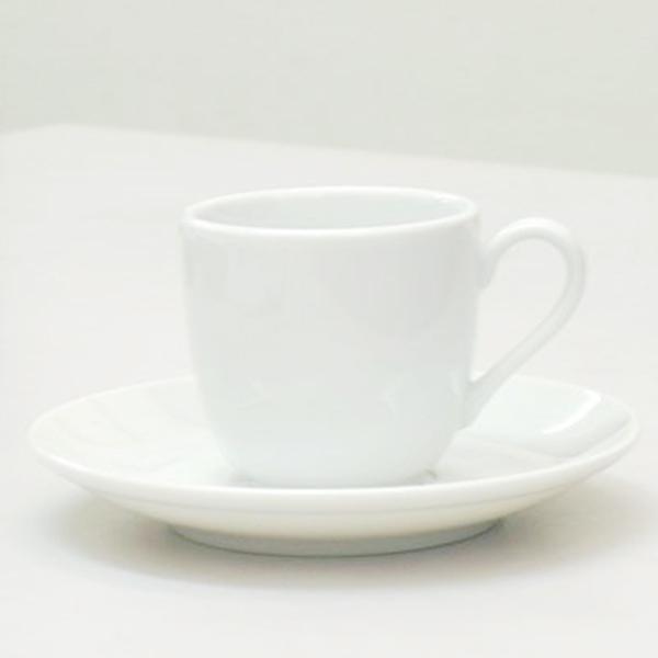 エスプレッソカップソーサー 白 ルーラル 洋食器 業務用食器 商品番号:m2000658-2000659
