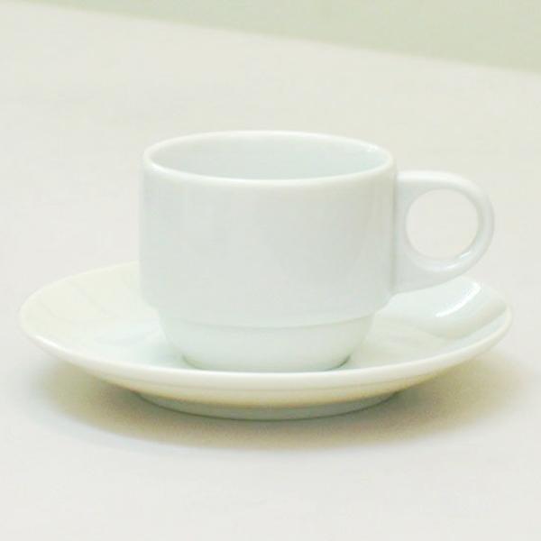エスプレッソカップソーサー 白 アーバンホワイト スタック 洋食器 業務用食器 商品番号:m2000758-2000759