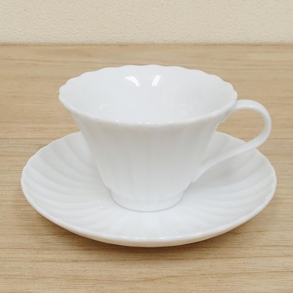 コーヒーカップソーサー かすみ 白磁 和食器 陶器 業務用食器 商品番号:m4006152-4006104