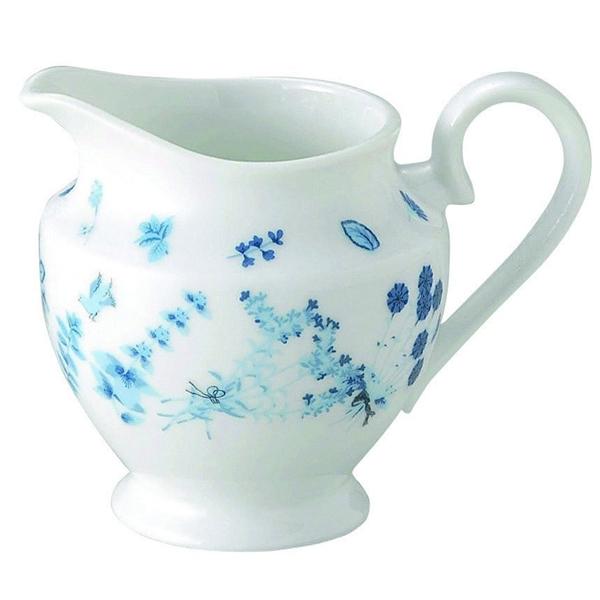 ミルクピッチャー Shinzi Katoh Blue Herbブルーハーブ クリーマー 陶器 業務用食器 Studio010 商品番号:sbh-108