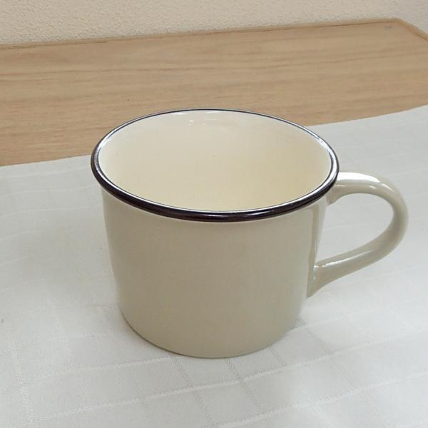 マグカップ ホーロー風 ライトグレー Caldo カルド 洋食器 業務用食器 STUIO010 商品番号:scd-104