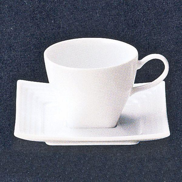 コーヒーカップソーサー 白 Kuchクチ 洋食器 業務用食器 STUDIO010 商品番号:skc-006-008
