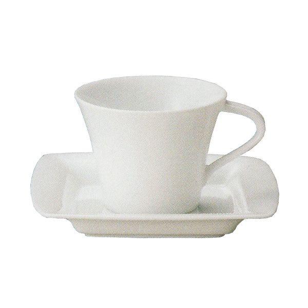 コーヒーカップソーサー 白 Moonムーン 洋食器 業務用食器 STUDIO010 商品番号:smn-003-010