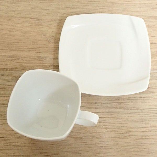 コーヒーカップソーサー 白 Obiオビ 洋食器 業務用食器 STUDIO010 商品番号:sob-005-006