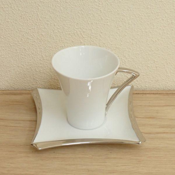 コーヒーカップソーサー プラチナ パルフェ  洋食器 業務用食器 STUDIO010 商品番号:spf-005p-006p
