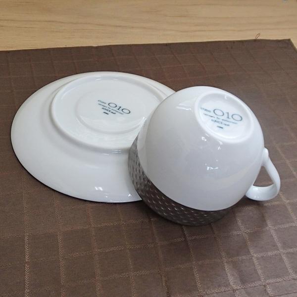 コーヒーカップソーサー 白 プラチナ Vnusutaベヌスタ 洋食器 業務用食器 STUDIO010 商品番号:svt-304-305