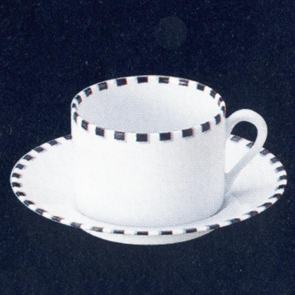 ティーカップソーサー 白 Dotドット 洋食器 業務用食器 STUDIO011 商品番号:sdo-013-014