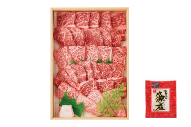 【通販|淡路牛】島の厳選 淡路牛 焼き肉セット(500g)藻塩付き