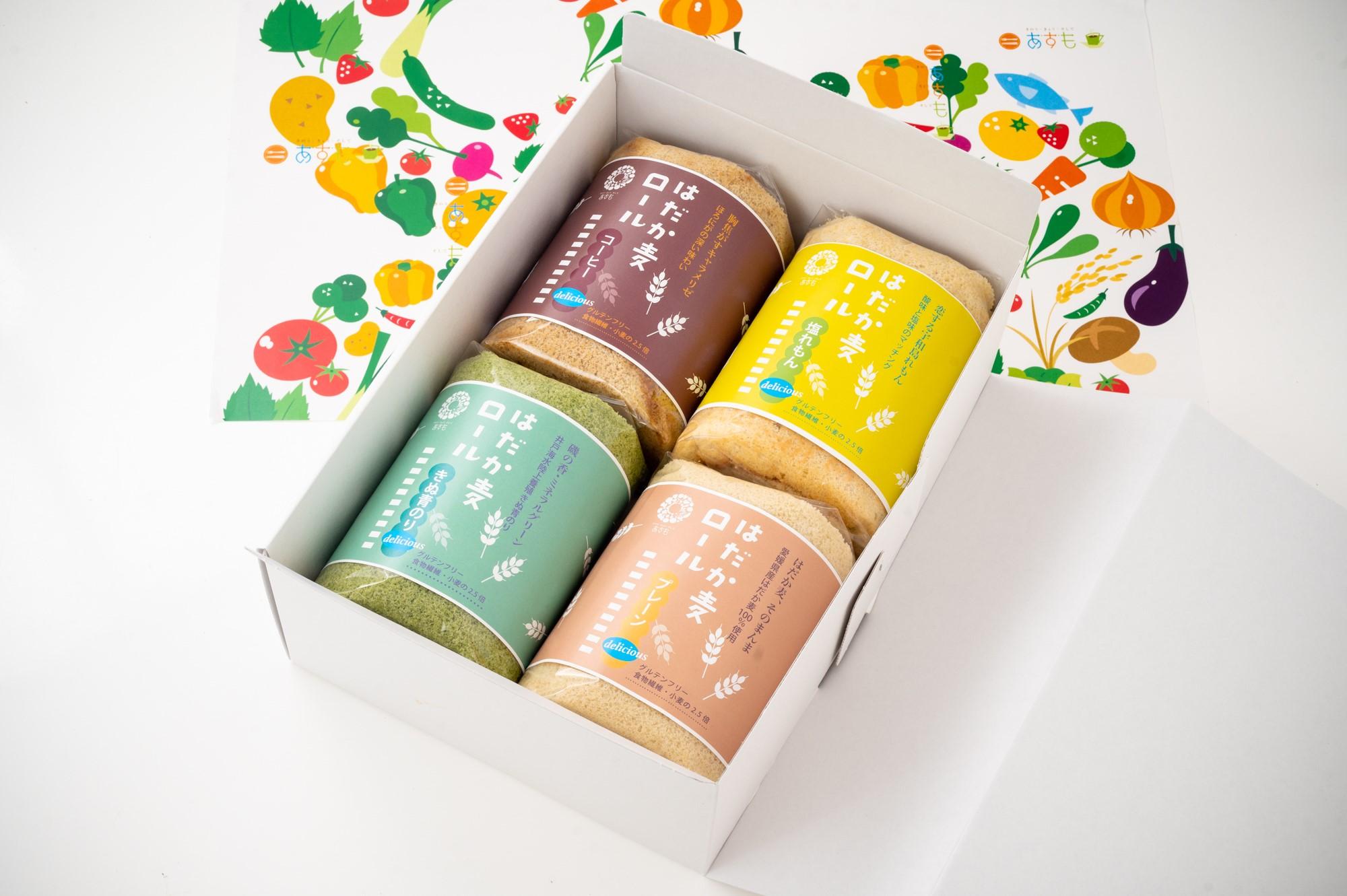 【愛媛県】グルテンフリーのはだか麦ロール 4種セット(冷凍)