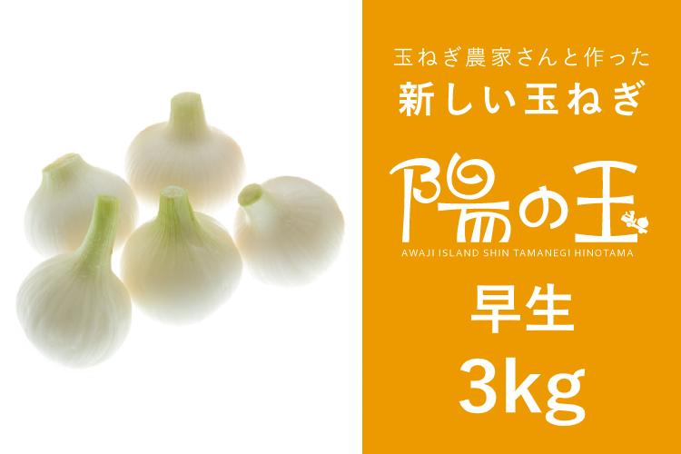 【通販|淡路島産新玉ねぎ】陽の玉(ひのたま) ・早生 3kg