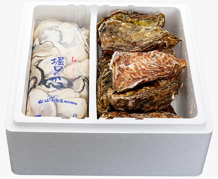 【広島県 | 堀口海産】 似島牡蠣 むき身 500g 殻付き10個セット【産地直送・同梱不可】