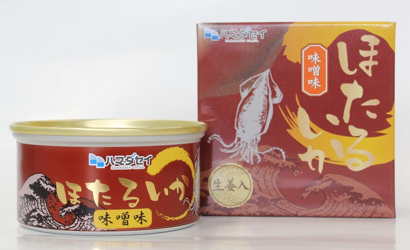 【兵庫県】ほたるいか缶詰 味噌味