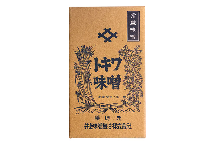 【徳島県|創業140余年・井上味噌醤油】 木樽天日塩仕込み 常盤味噌(ときわみそ)