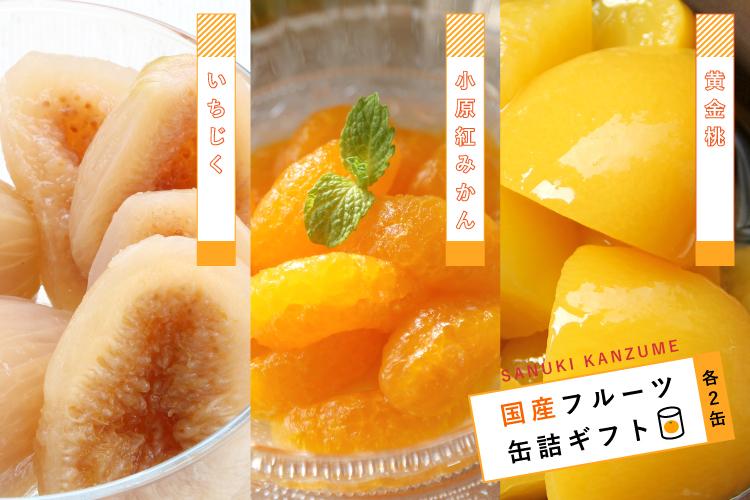 【香川県|缶詰】国産フルーツ缶詰ギフト6缶セット【産地直送・同梱不可】