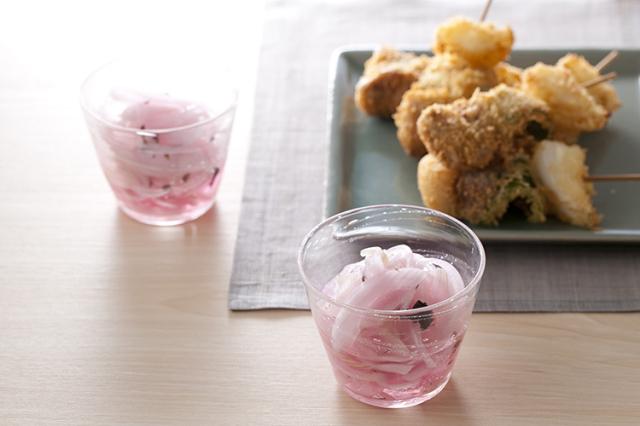 【和食の日:ポイントさらに2倍】淡路島産玉ねぎ しそ酢漬け カット
