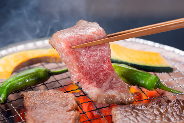 【通販】淡路牛 淡路島の豊かな自然の中で育った淡路牛 島の厳選牛肉 淡路牛焼き肉セット(500g)藻塩付き