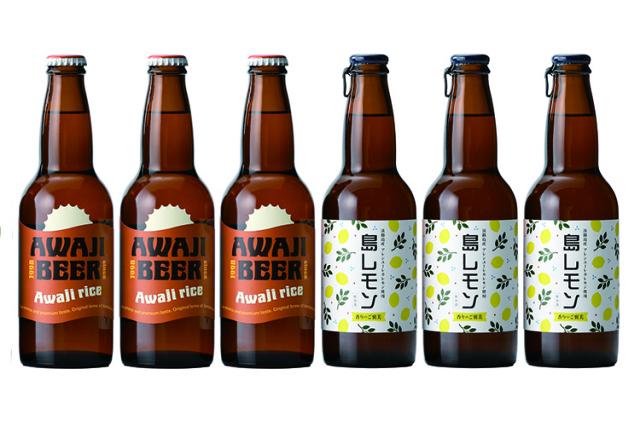 【ギフト】ビール党のあの方に 淡路島のクラフトビール あわぢびーる「淡路米仕込みピルスナー」と フレーバービア「島レモン」2種6本入りセット