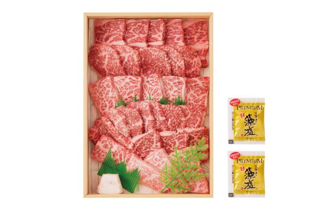 島の厳選牛肉 淡路牛焼き肉セット(500g)藻塩付き