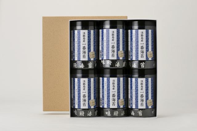 【#元気いただきますプロジェクト対象】「淡路島産一番海苔」6本箱入り <送料無料│同梱不可>