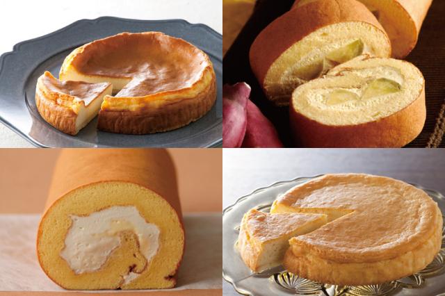 【お歳暮ギフト】淡路島ロールケーキ2種とベイクドチーズケーキ2種 計4個セット(送料込)