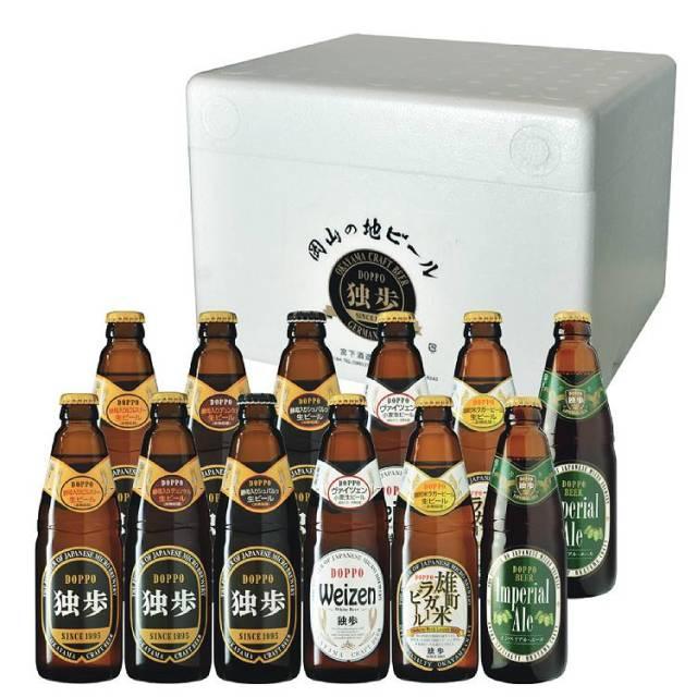【岡山県|地ビール】「独歩ビール」 クラフトビア本格派飲み比べセット 12本【産地直送・同梱不可】