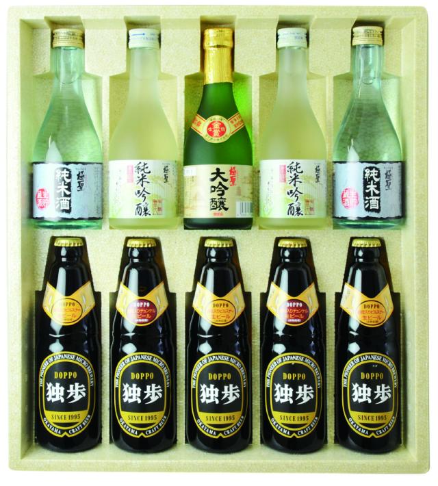 【岡山県|地ビール】「独歩ビール」岡山の地酒とクラフトビールのセット 【産地直送・同梱不可】