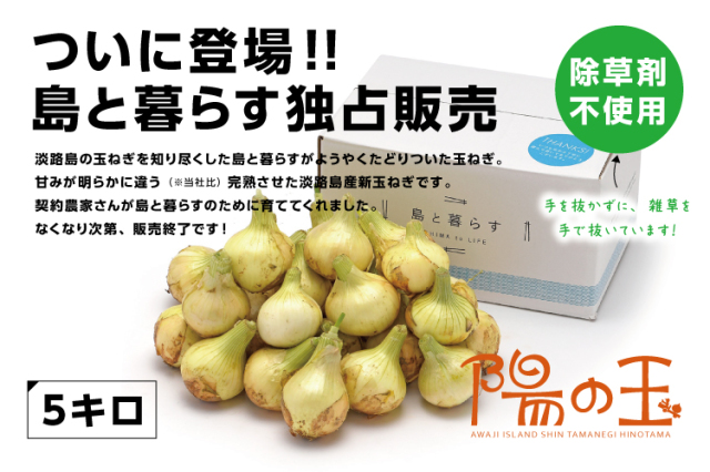 【通販|淡路島産新玉ねぎ】陽の玉(ひのたま) 5kg