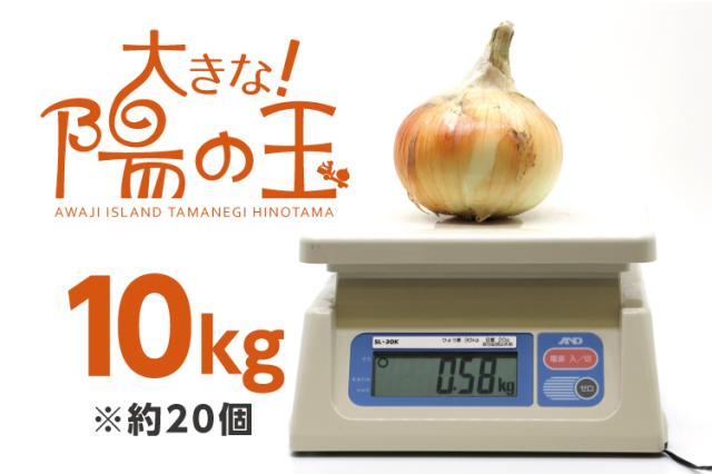 【通販|淡路島産玉ねぎ】大きな陽の玉 10kg