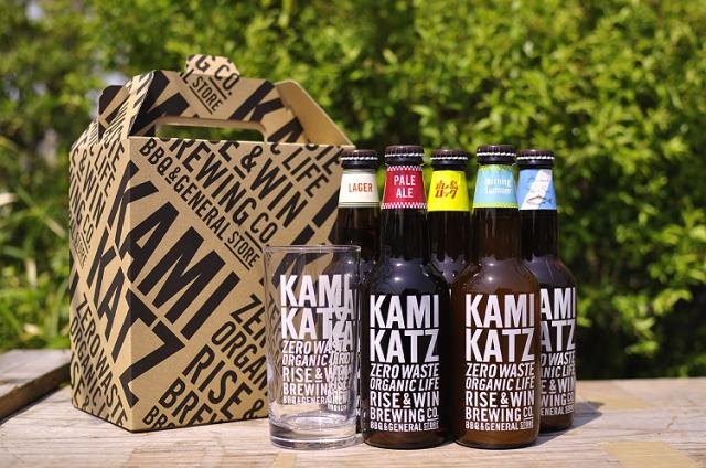 【徳島県 地ビール】「カミカツビール」5種アソートと特製グラスセット【産地直送・同梱不可】