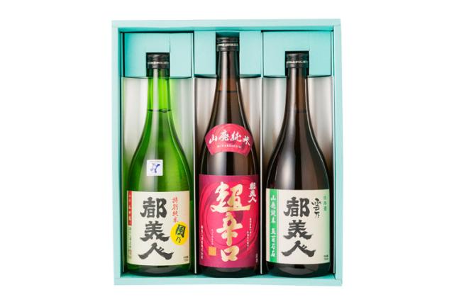【ギフト】「日本酒には目がない」あの方へ 都美人酒造の山廃純米「超辛口」・特別純米「風乃都美人」・山廃仕込み「雲乃都美人」の3本セット(各720ml)3本セット