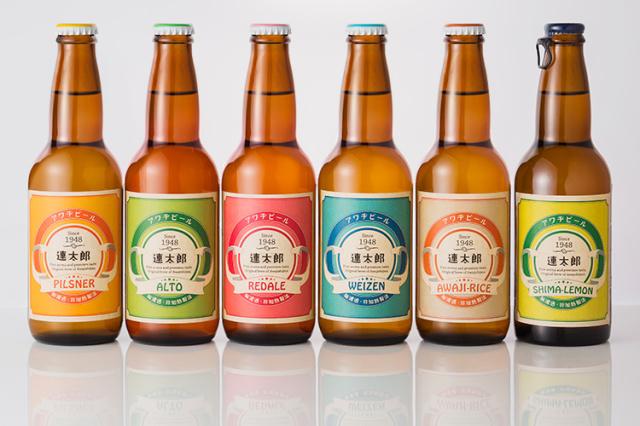 【敬老の日ギフト】【名入れあわぢびーる】生まれ年とお名前入りビール 全6種6本セット