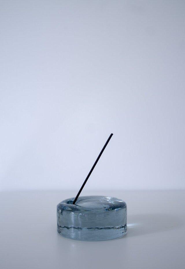 <香りとくらす>INCENSE STAND 75φ -blue gray 【直送・同梱不可】<花みどりフェア>