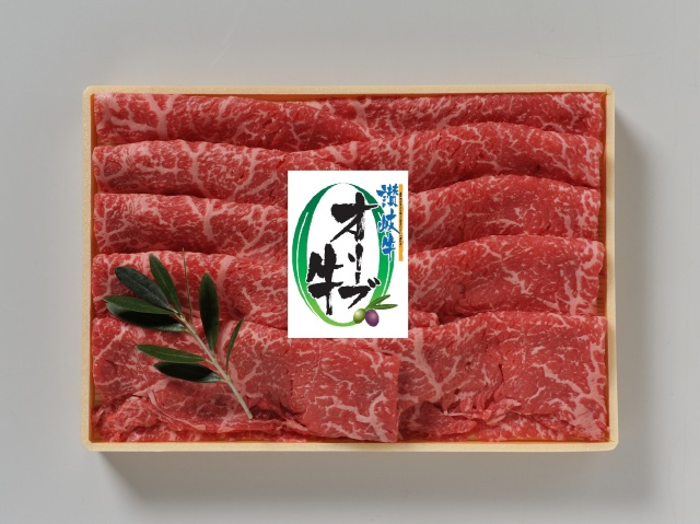 【#元気いただきますプロジェクト対象】オリーブ牛モモしゃぶしゃぶ400g【送料無料・同梱不可】