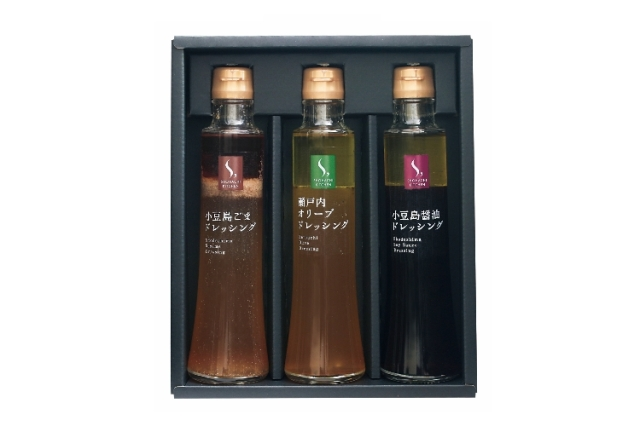 【香川県】小豆島 オリーブドレッシング3種セット(オリーブ・ごま・和風)