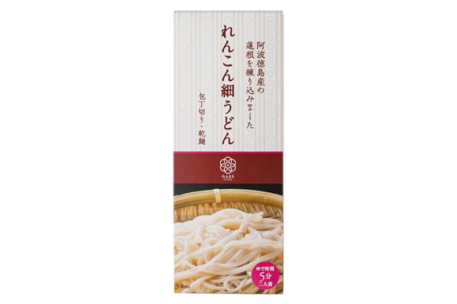 阿波徳島の蓮根使用 れんこん細うどん (乾麺)