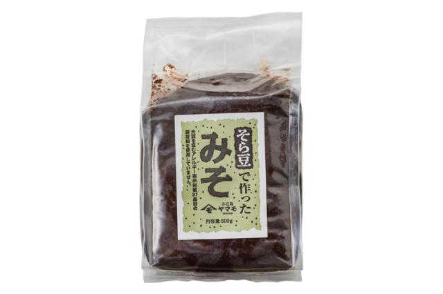 【香川県】大豆不使用 そら豆で作った「そら豆みそ」500g【アレルギー特定原材料等27品目不使用】