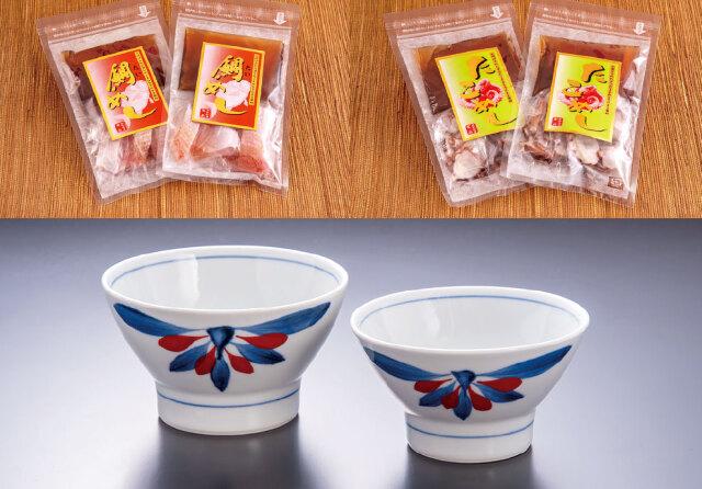 【愛媛県】たいめしたこめし砥部焼夫婦茶碗セット 各種2袋入り(冷凍)
