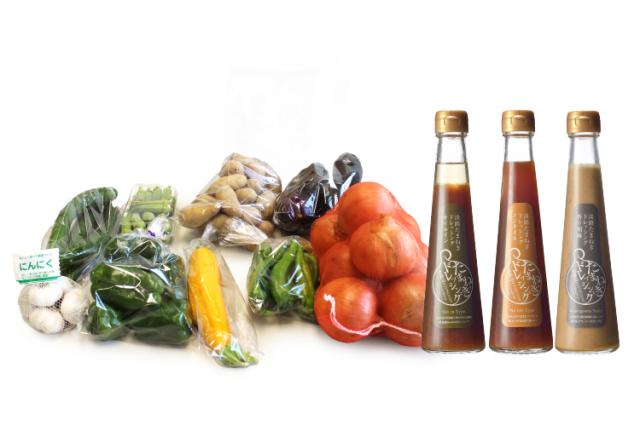 【お中元・夏ギフト/送料無料・クール料金無料】島の季節野菜を3種の淡路玉ねぎドレッシングで食べるセット