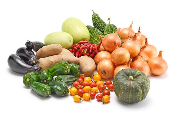 淡路島の市場からその日届いた「夏の野菜」を食べるセット