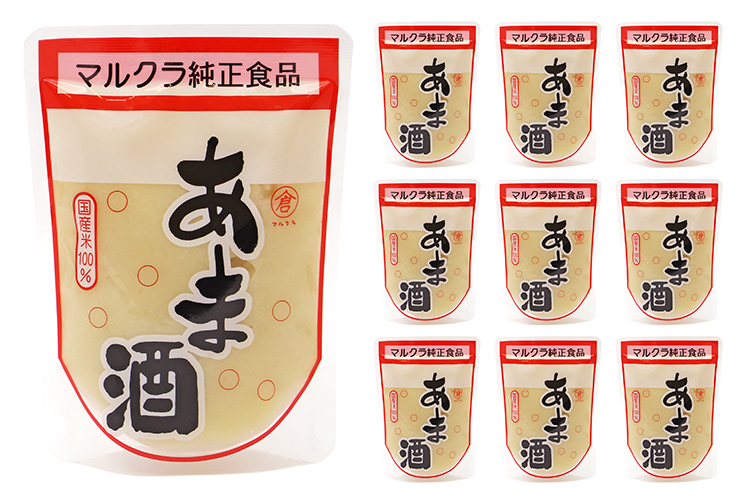 【岡山県マルクラ純正食品】国産 白米あま酒 10個セット