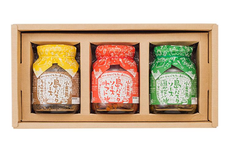 【ギフト | パスタソース | 香川県・小豆島】小豆島 パスタソース3種セット(化粧箱入り)