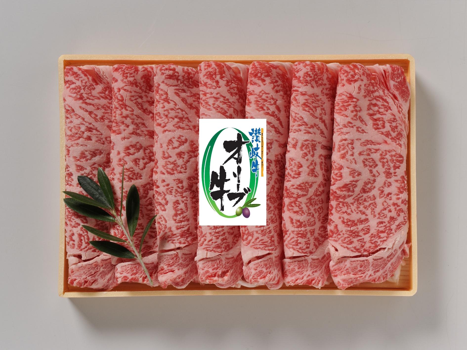 【#元気いただきますプロジェクト対象】オリーブ牛ロースすき焼き400g【香川県/同梱不可・産地直送】