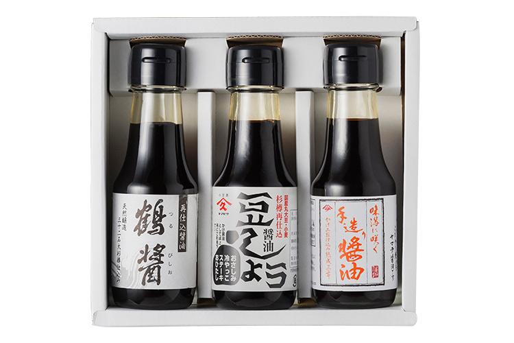【島のこだわり醤油セット】 醤油で醤油を仕込んだ濃厚醤油の味比べ3本セット