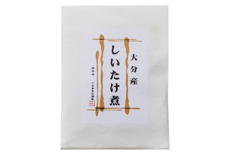 【食品添加物不使用】大分県産、原木栽培の肉厚な『どんこしいたけ』を再仕込み丸大豆醤油『鶴醤』で炊き上げた しいたけ煮