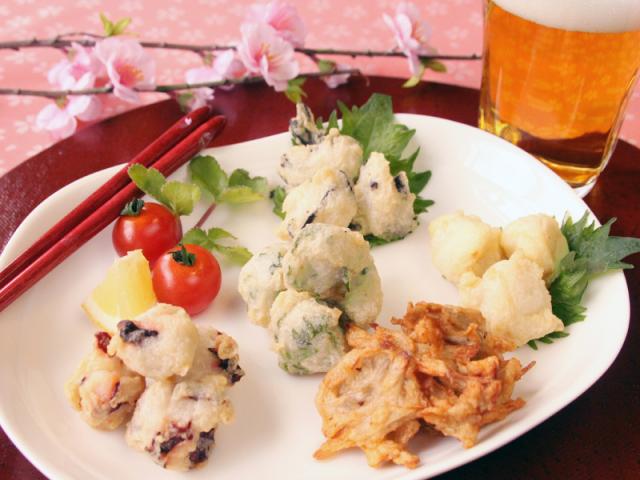 旬の天ぷらミックス 5種のおつまみ天