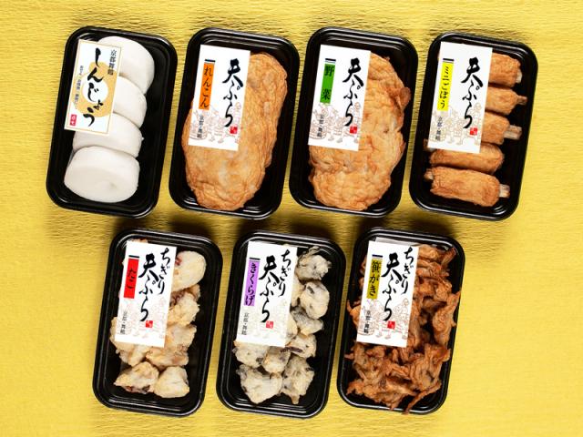 【秋冬限定】 舞鶴しんじょうと天ぷら6種セット (おでん種ご家庭用セット)